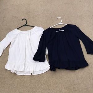 3/4 Long Sleeve Tops Old Navy Girls Large